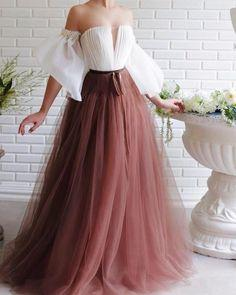 Off the shoulder tulle prom dress  cg7406