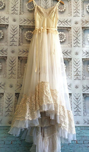 White lace prom dress wedding dress