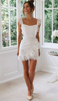 lace short prom dress cocktail dress homecoming dress