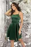 Sexy backless green sleeveless short party dress, cute prom dress T1504