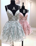 0214,pink/gray sleeveless women dress spaghetti-straps tulle fashion dress sweetheart mini evening dress applique beaded homecoming dress