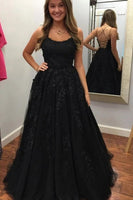 D1186,2020 Prom Dress with Appliques and Beading Long Prom Dresses 8th Graduation Dress School Dance Winter Formal Dress