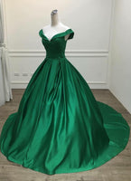 D1305,Green Gorgeous Prom Gowns, Lovely Prom Dresses