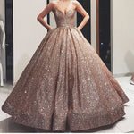Sweetheart neck Formal Sequins Ball Gown Prom Dresses, Princess Quinceanera Dress T1816