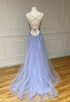 tulle beads long prom dress evening dress KS4042