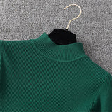 Winter Knitting Sweater Pullovers Women Long Sleeve Tops Turtleneck Knitted Sweater Chic Woman Clothes Female Casual Streetwear