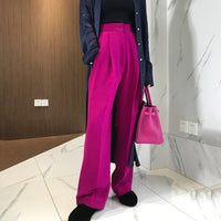 TWOTWINSTYLE Trouser For Women High Waist Causal Loose Wide Leg Pants Female Autumn Winter Korean Fashion Elegant Tide
