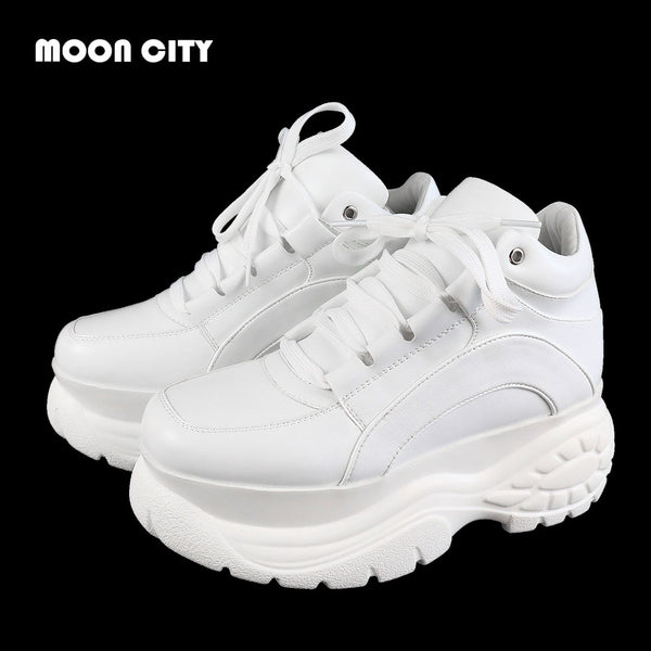 women sneakers Fashion Whiter Platform Sneakers Ladies Brand Chunky Causal Shoes Woman Leather Sports Shoes Chaussure Femme