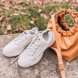 Taoffen Women Real Leather Sneakers Shoes Fashion Vulcanized Women Shoes Lace Up Round Toe Casual Women Footwear Size 35-39