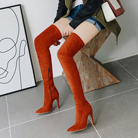 Brand New women's shoes woman Plus Large big size 32-48 over the knee boots thin high heel sexy Party Boots botas de mujer