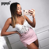 Gagaopt Summer Lace Bodysuit Women Hollow Out Bodycon Sexy Bodysuit Jumpsuit Overalls Streetwear