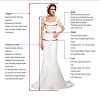 Split A Line Round Neck Chiffon Lace Long Wedding prom Dresses  cg7333