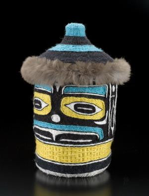 17. Raven and the Sun Chilkat Rattle Top Basket