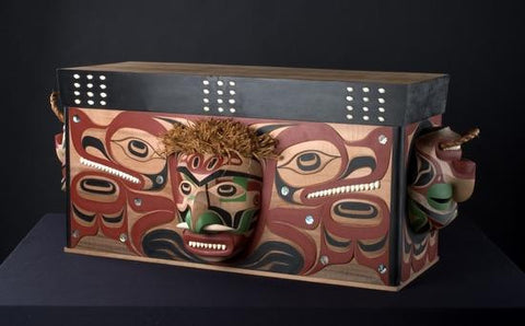 "22. ?iihtuup?iih ?it paawa (""Paawa Hunted Grey Whale"") Bentwood Chest"