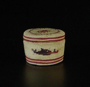 Canoe Basket with Lid