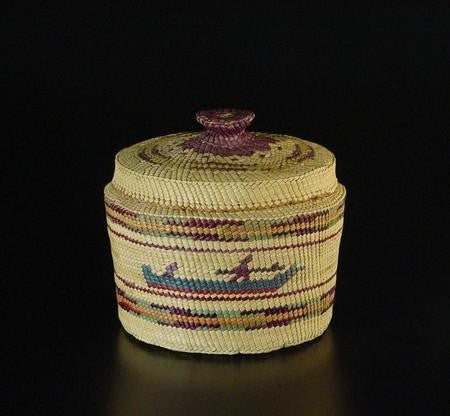 Canoe & Whale Basket with Lid