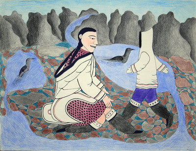 On the rocky shore, 1989 - 1990