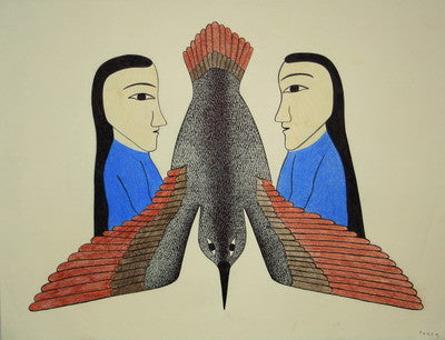 Bird Between Two Women