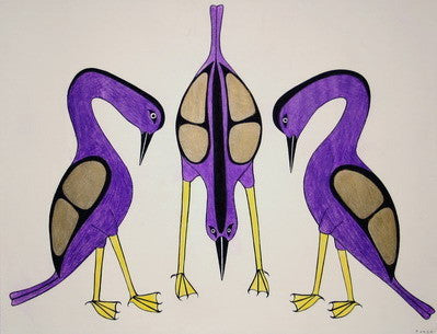Three Purple Birds, 1990 - 1991