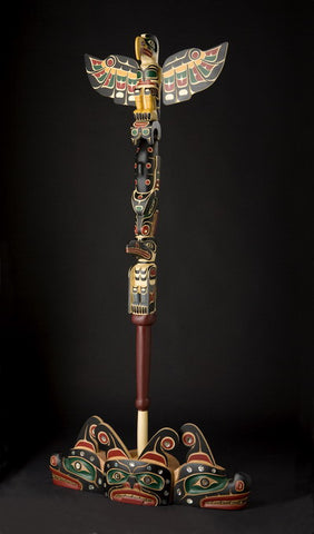 14. Speaker's Staff ( Eagle, Whale, Raven with Sisiutl Base)