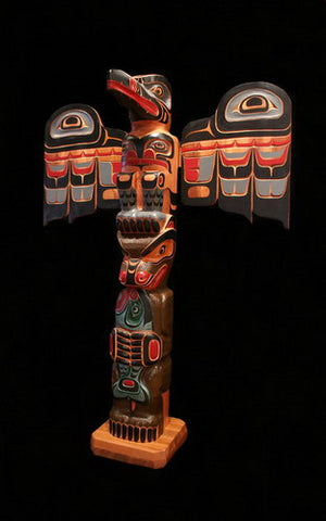 5. Raven and Bear with Salmon Totem Pole