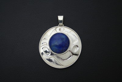 30. Abstract Lapis Pendant