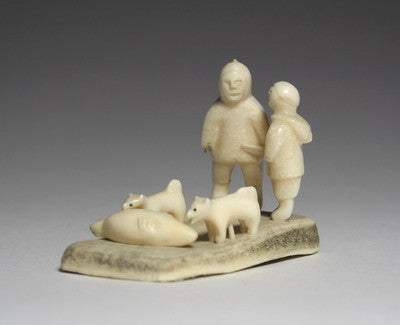 106. MAN, WOMAN, DOGS, SEAL, Circa 1970