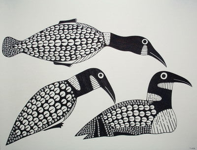 10. Family of loons, 1991/1992