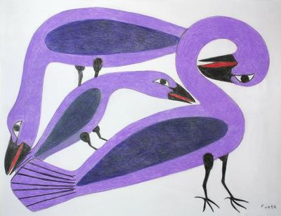 7. Preening Purple Birds