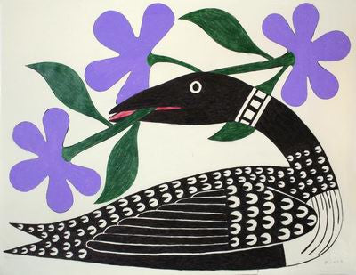 1. Loon With Purple Flowers