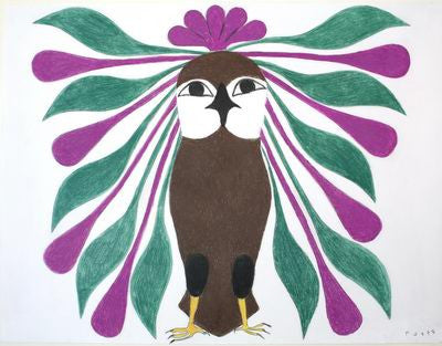 10. Owl With Pink And Green Plumage
