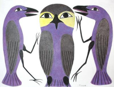 14. Purple Owl And Two Ravens