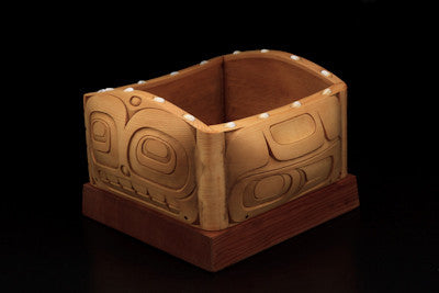 12. Whale Design Bulging Bentwood Box