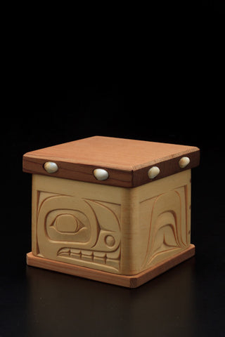 9. Whale Design Bentwood Box
