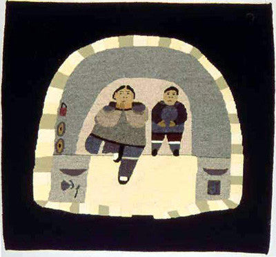 Mother And Child In Igloo