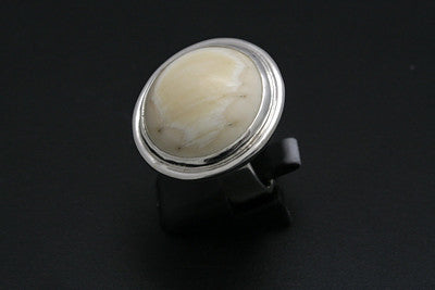 Large Ivory Cabachon Ring