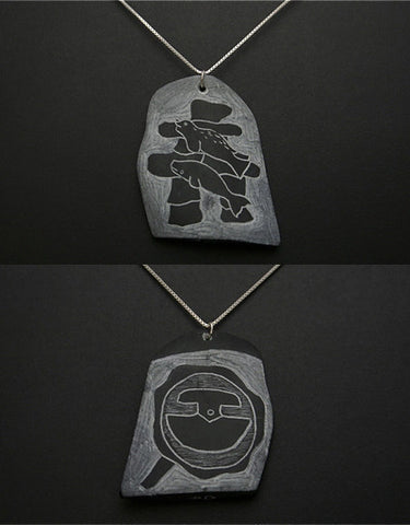 Etched Stone Pendant