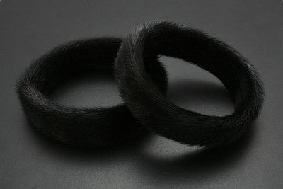 Black Seal Fur Bracelets