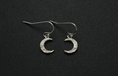 Crescent Moon Drop Earrings