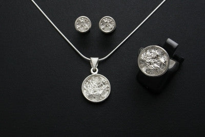 Full Moon Ring, Stud Earrings and Pendant