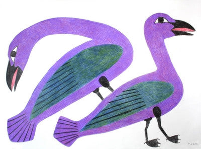 Untitled (2 Purple Birds)