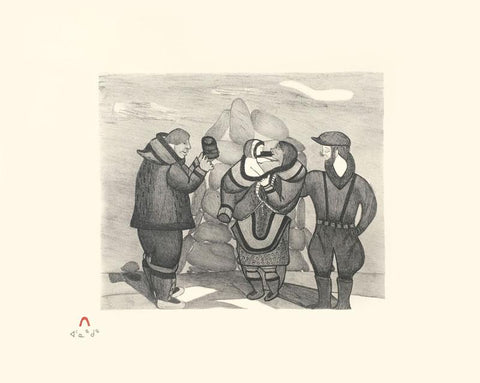 Whaler's Exchange by Napachie Pootoogook