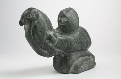 Inuk with Bird, Circa 1995