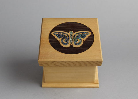 Butterfly Design Bentwood Box