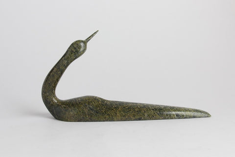 Serpentine Loon by Ningeosiak Ashoona Inuit Artist from Cape Dorset