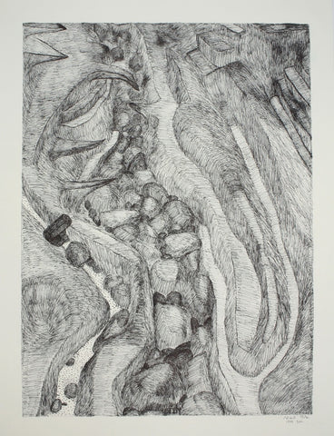 Untitled (Rock Formations 1) by Shuvinai Ashoona