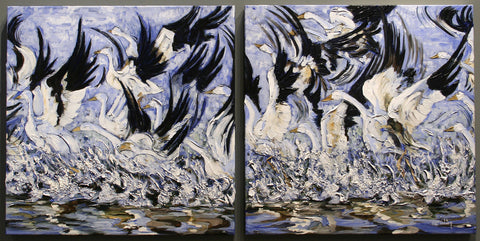 Snow Geese both panels