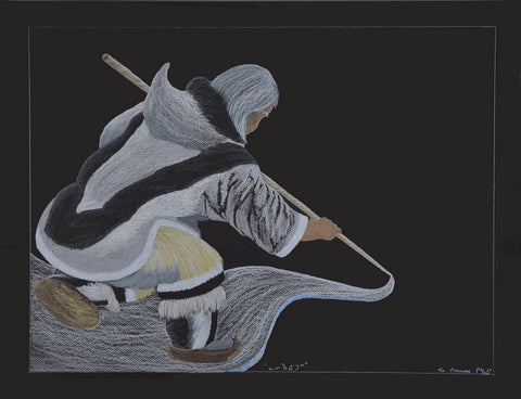 Nalirqaiturq- Very Cold by Tim Pitsiulak Inuit Artist from Cape Dorset