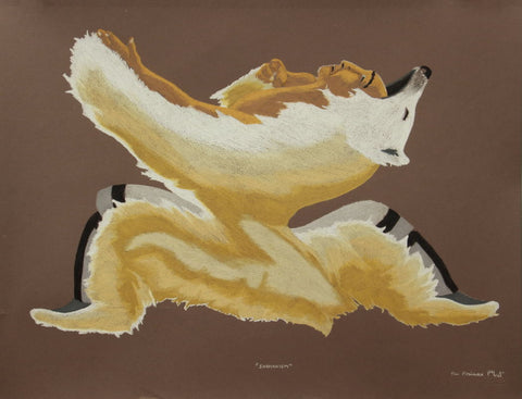 Shamanism by Tim Pitsiulak Inuit Artist from Cape Dorset