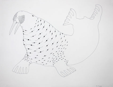 Untitled (Walrus with Eyes), Cape Dorset  2015
